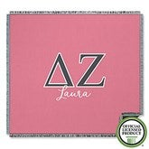 Delta Zeta Personalized Greek Letter Woven Throw - 21029-A