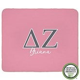 Delta Zeta Personalized Greek Letter 50x60 Sherpa Blanket - 21029-S
