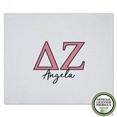 Delta Zeta Personalized Greek Letter Sweatshirt Blanket - 21029-SW