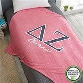 Delta Zeta Personalized Greek Letter 60x80 Fleece Blanket - 21029-FL