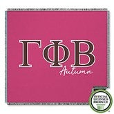 Gamma Phi Beta Personalized Greek Letter Woven Throw - 21030-A