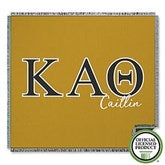 Kappa Alpha Theta Personalized Greek Letter Woven Throw - 21031-A
