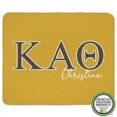 Kappa Alpha Theta Personalized Greek Letter 50x60 Sherpa Blanket - 21031-S