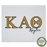 Kappa Alpha Theta Personalized Greek Letter Sweatshirt Blanket - 21031-SW