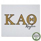Kappa Alpha Theta Personalized Greek Letter Sweatshirt Blanket - 21031-SW