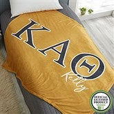 Kappa Alpha Theta Personalized Greek Letter 60x80 Fleece Blanket - 21031-FL