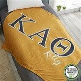 Kappa Alpha Theta Personalized Greek Letter 60x80 Fleece Blanket - 21031-FL