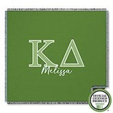 Kappa Delta Personalized Greek Letter Woven Throw - 21032-A