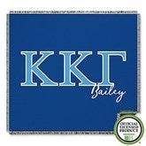 Kappa Kappa Gamma Personalized Greek Letter Woven Throw - 21033-A