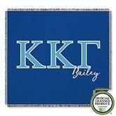 Kappa Kappa Gamma Personalized Greek Letter Woven Throw - 21033-A