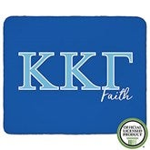 Kappa Kappa Gamma Personalized Greek Letter 60x80 Sherpa Blanket - 21033-SL
