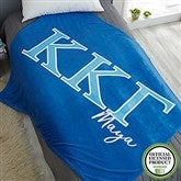 Kappa Kappa Gamma Personalized Greek Letter 50x60 Fleece Blanket - 21033-F