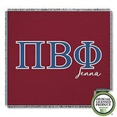 Pi Beta Phi Personalized Greek Letter Woven Throw - 21034-A