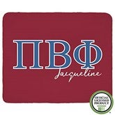 Pi Beta Phi Personalized Greek Letter 60x80 Sherpa Blanket - 21034-SL