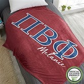 Pi Beta Phi Personalized Greek Letter 50x60 Fleece Blanket - 21034-F