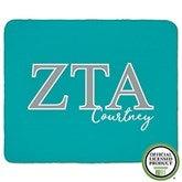 Zeta Tau Alpha Personalized Greek Letter 60x80 Sherpa Blanket - 21035-SL