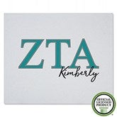 Zeta Tau Alpha Personalized Greek Letter Sweatshirt Blanket - 21035-SW