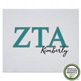 Zeta Tau Alpha Personalized Greek Letter Sweatshirt Blanket - 21035-SW