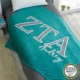 Zeta Tau Alpha Personalized Greek Letter 60x80 Fleece Blanket - 21035-FL