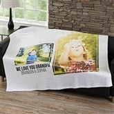 Two Photo Collage Personalized 50x60 Fleece Blanket For Him - 21051-F