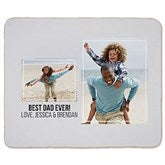 Two Photo Collage Personalized 50x60 Sherpa Blanket For Him - 21051-S