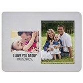 Two Photo Collage Personalized 60x80 Sherpa Blanket For Him - 21051-SL