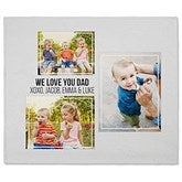 Three Photo Collage Personalized 50x60 Fleece Blanket For Him - 21053-F