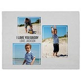 Three Photo Collage Personalized 60x80 Fleece Blanket For Him - 21053-FL