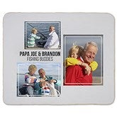 Three Photo Collage Personalized 50x60 Sherpa Blanket For Him - 21053-S