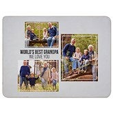 Three Photo Collage Personalized 60x80 Sherpa Blanket For Him - 21053-SL