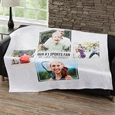 Four Photo Collage Personalized 50x60 Fleece Blanket For Him - 21054-F