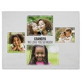 Four Photo Collage Personalized 60x80 Fleece Blanket For Him - 21054-FL