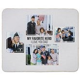 Four Photo Collage Personalized 50x60 Sherpa Blanket For Him - 21054-S