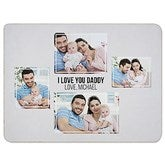 Four Photo Collage Personalized 60x80 Sherpa Blanket For Him - 21054-SL