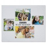 Four Photo Collage Personalized 50x60 Sweatshirt Blanket For Him - 21054-SW