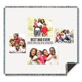 Four Photo Collage Personalized Woven Throw For Him - 21054-A
