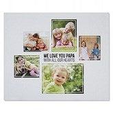 Five Photo Collage Personalized 50x60 Sweatshirt Blanket - 21056-SW