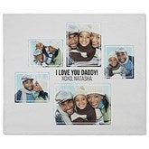 Five Photo Collage Personalized 50x60 Fleece Blanket - 21056-F