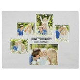 Five Photo Collage Personalized 60x80 Fleece Blanket - 21056-FL