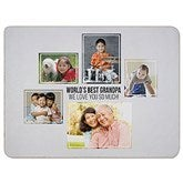Five Photo Collage Personalized 60x80 Sherpa Blanket - 21056-SL