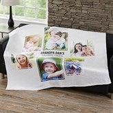 Six Photo Collage Personalized 50x60 Fleece Blanket - 21057-F