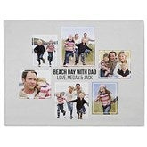 Six Photo Collage Personalized 60x80 Fleece Blanket - 21057-FL