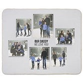 Six Photo Collage Personalized 50x60 Sherpa Blanket - 21057-S