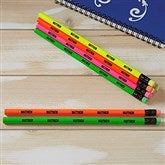 Assorted Neon Personalized Pencil Set of 12 - 21061