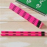 Neon Pink Personalized Pencil Set of 12 - 21146