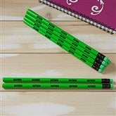 Neon Green Personalized Pencil Set of 12 - 21147