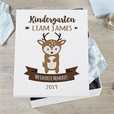 Woodland Adventure Deer Personalized Kids Keepsake Box - 21164-D