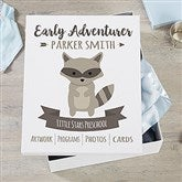 Woodland Adventure Raccoon Personalized Kids Keepsake Box - 21164-R