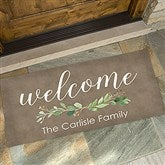 Greenery Welcome Personalized Oversized Doormat- 24x48 - 21165-O