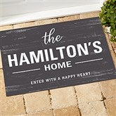 Farmhouse Family Welcome Personalized Doormat- 18x27 - 21167